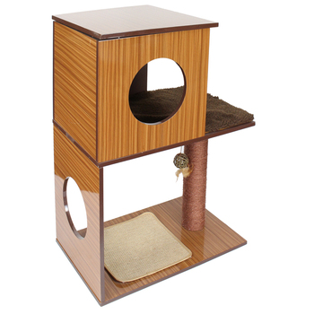 Outdoor Cat Tree Wood Furniture with Cat Toy Set/DIY Cat Tower Tree House Wooden/Cat climbing tree
