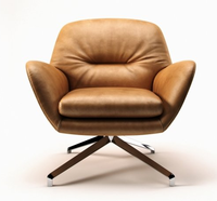 Vintage design Minotti furniture Genuine leather Minotti Jensen leisure chair