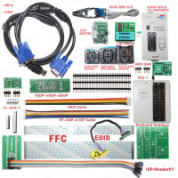 RT809F Programmer All Adapters SOP8 IC Clip Motherboard LCD Reader + PEB-1 + EDID + ISP-DuPont-Heade