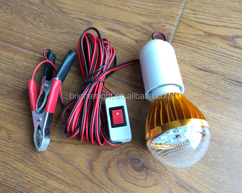 Blister 3W led light bulb12v with lamp holder switch and battery clamp