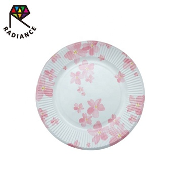 Dia 18cm 7 Inch Disposable Party Paper Plate