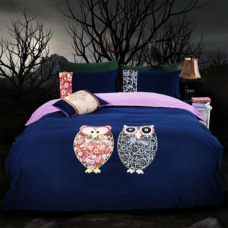 Single treffen owl bedding queen