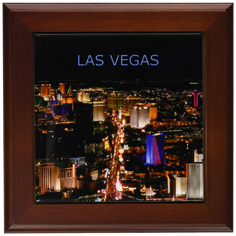 Buy 3dRose LLC Las Vegas The Strip 8 by 8-Inch Framed Tile in Cheap ...