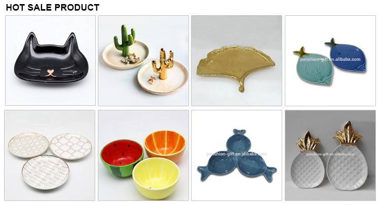 Modern luxury custom white gold dinner ceramic plate