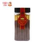 Delicious Biscuit stick coated with chocolate flavor in jar hot selling chocolate flavor biscuit