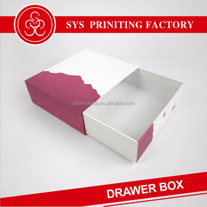 Sliding gift drawer storage paper box