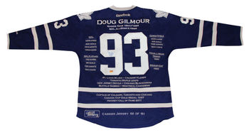 premium selection a50a4 13a43 Doug Gilmour Career Jersey - Autographed - Limited Edition - Toronto Maple  Leafs - Buy Nhl Hockey Memorabilia Athlete Sports Puck Hall Of Fame Legend  ...