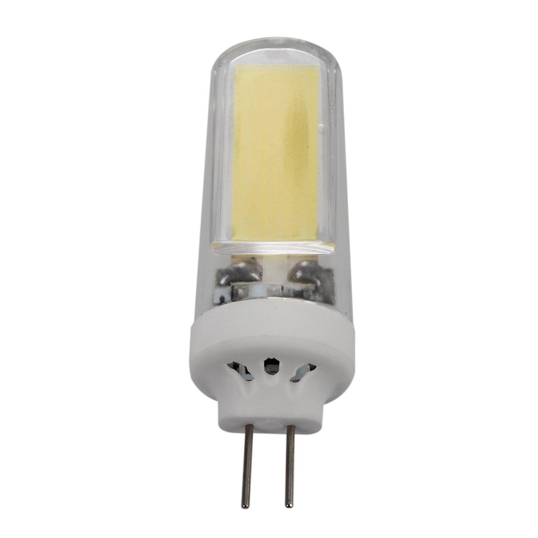 SODIAL(R) 4pcs 3W LED bulb G4 COB white light ceramic feet AC220-240V
