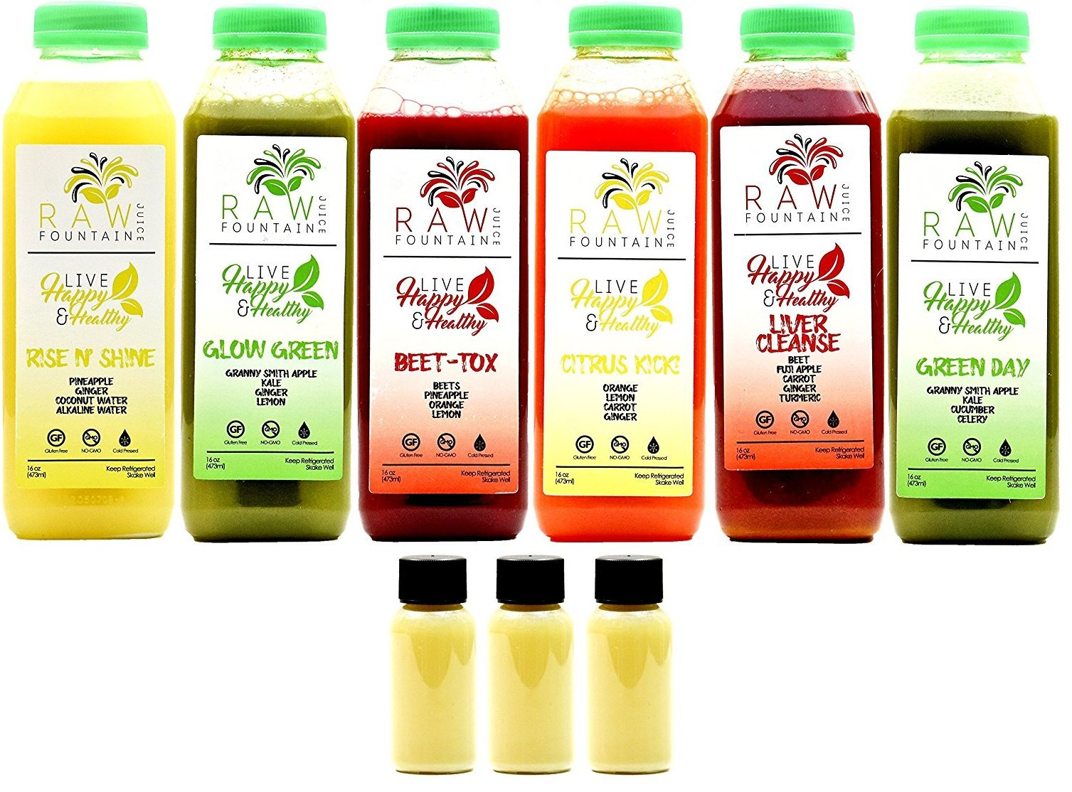 Get Quotations · 3 Day Juice Cleanse by Raw Fountain Juice - 100% Fresh  Natural Organic Raw Vegetable
