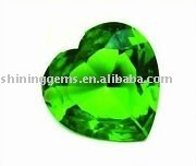 facet dazzling green heart shaped elegant gems cz stone