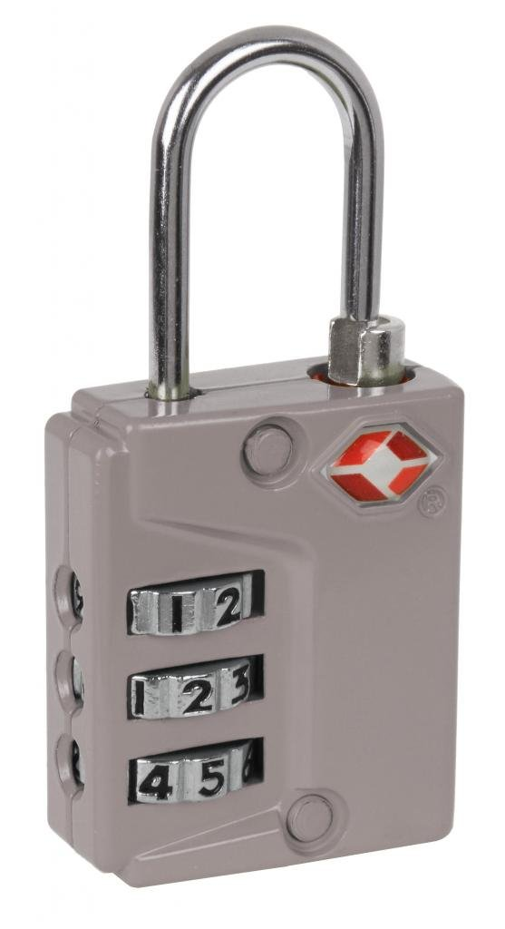 IVATION! 3 Dial TSA Approved Combination Luggage lock (With Instant Alert Red Tab Indicator If opened By TSA) Silver