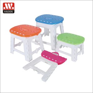 Hot sales traveling products Customized color plastic oval travel portable folding stool/chair