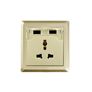 OEM Electric USB Universal Wall Socket Gold Panel