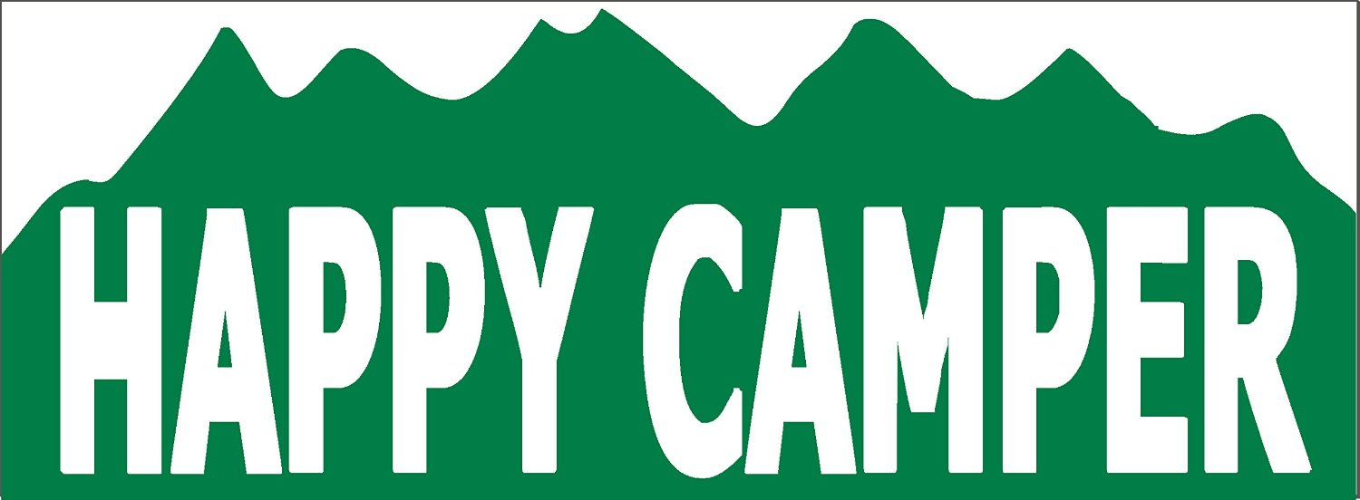 Get Quotations Happy Camper Funny Camping Bumper Sticker 9 X 35 Vinyl Decal