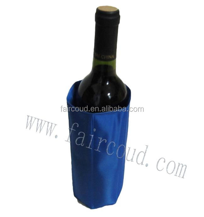 High quality reusable PVCNylon ice gel wine cooler sleeve or bag