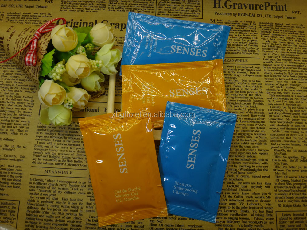 Hotel Hair Care Travel Sachet 10ml Shampoo bag with Customize printing