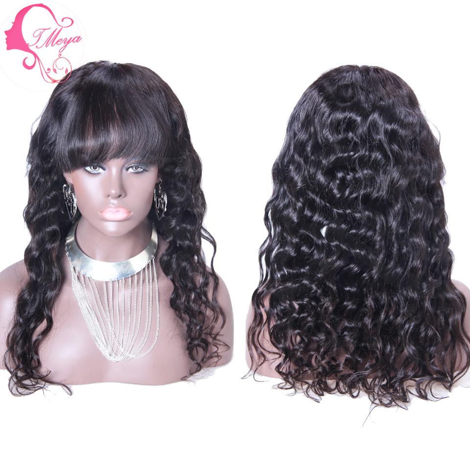 Deep brazilian wave hair with bangs best photo