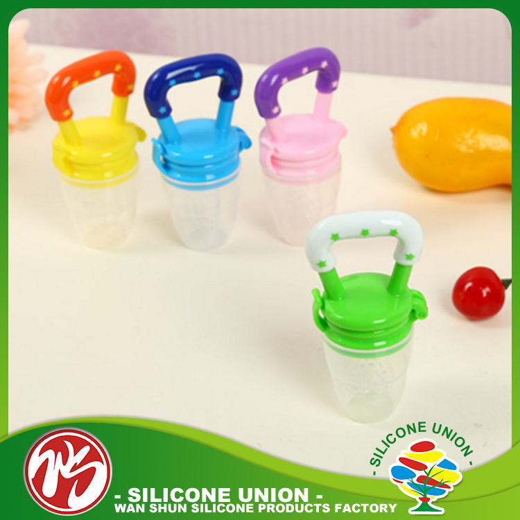 Wholesale 2017 Hot Sale Baby Products Silicone Baby Feeder Pacifier For Fruit Fresh Food Feeder