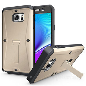3 in 1 Tank rugged defender case for samsung galaxy note 5, for samsung note kickstand case with screen protector