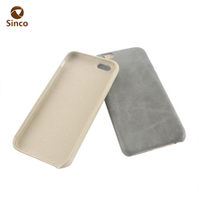 Case mobile phones factory ultra-thin embossed real leather cell phone cases for iphone 6