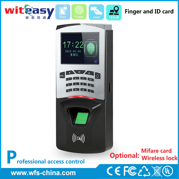 RFID card time punch swipe attendance machine in access control system with software