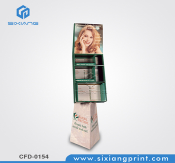 Promotional products ideas supermarket cardboard display riser for facial mask