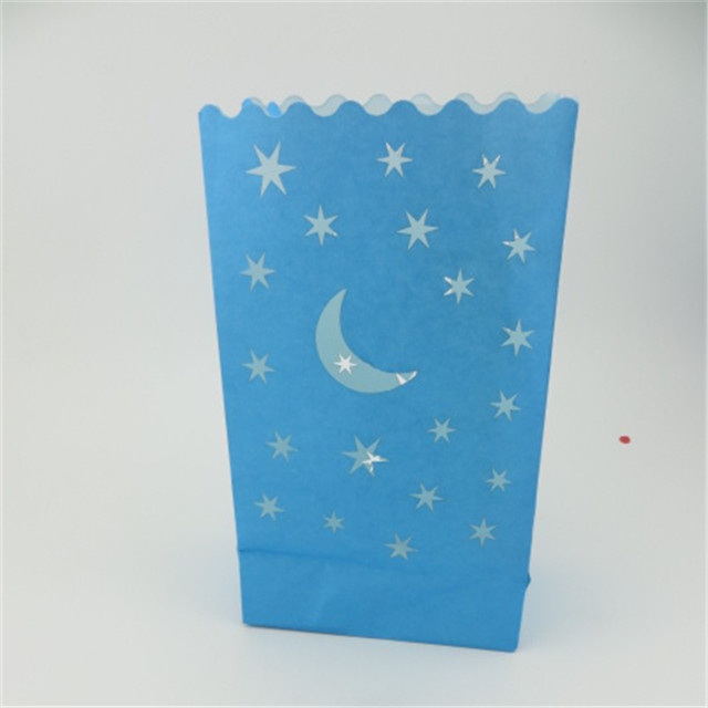 Wedding Paper floating lanterns Candle Bags with Star