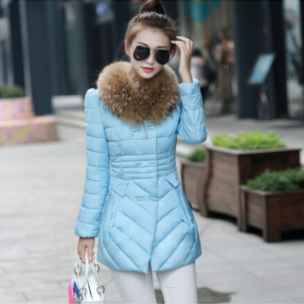 Зимняя куртка женщин 2015 зимнее пальто женщин парки роскошные шуба Большой размер хлопок-ватник вниз пальто женщин ватные куртки