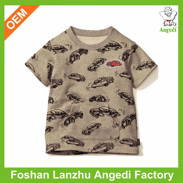 OEM high quality eco-friendly soft baby organic cotton t shirt with water base printing
