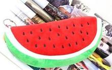 Novel Design Cartoon Pencil Case Plush Large Pen Bag For Kids Pen Bag Lovely Watermelon Pencil Case
