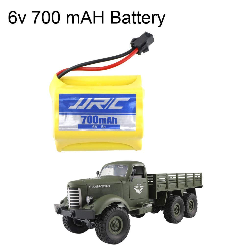Yezijin Remote Control Car, JJRC Q60 RC 1:16 2.4G Remote Control 6WD Tracked Off-Road Military Truck Car RTR - Rc Cars Kids Adults
