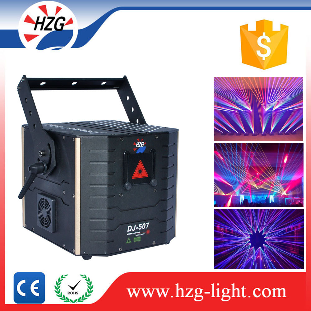 China Customized 5watt red /green/blue /rgb mixing color Animation laser Stage event light