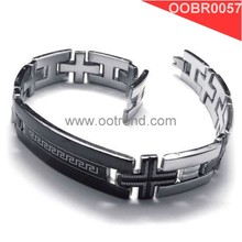Men Greek key Fibo steel jewelry wholesale