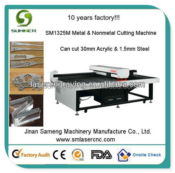 SM1325M 150W output laser power steel laser cutting machine looking for european distributor