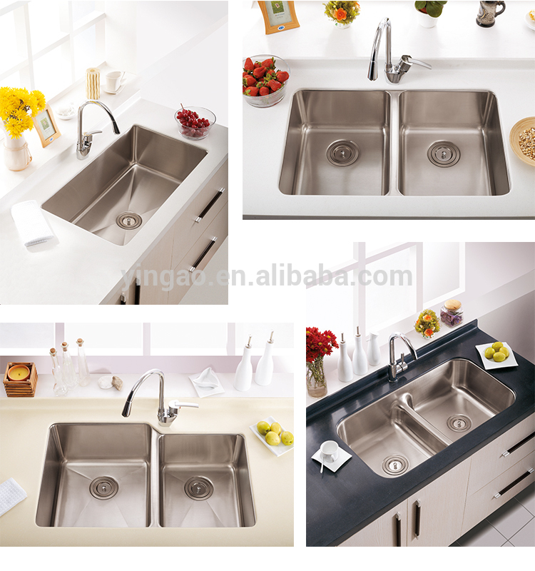 Various Styles CUPC Russian Sinks Wall Mount Stainless Steel Sink with Drain Board