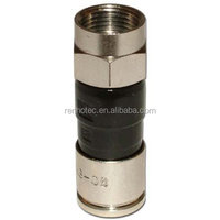 Snap and Seal Compression Waterproof Connector PPC EX6XL PLUS RG6 Compression Connectors Fitting for Wire RG6