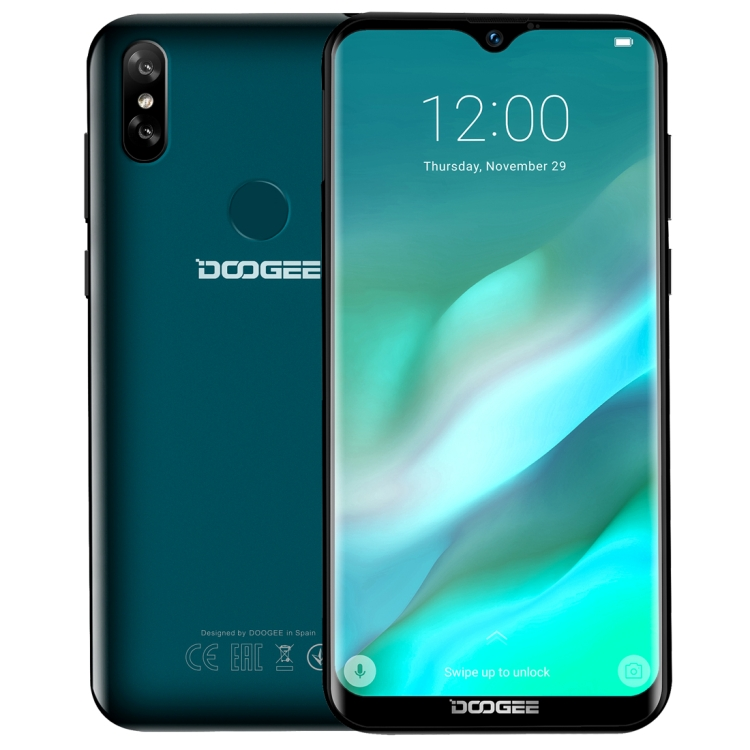 Water-drop Screen smartphone DOOGEE Y8 6.1 inch <strong>Android</strong> 9.0 mobile <strong>phone</strong> 3GB+32GB Face ID &amp; DTouch Fingerprint