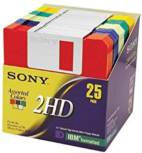 Sony 2HD 3.5 IBM Formatted Floppy Disks (25-Pack) (Discontinued by Manufacturer) by Sony