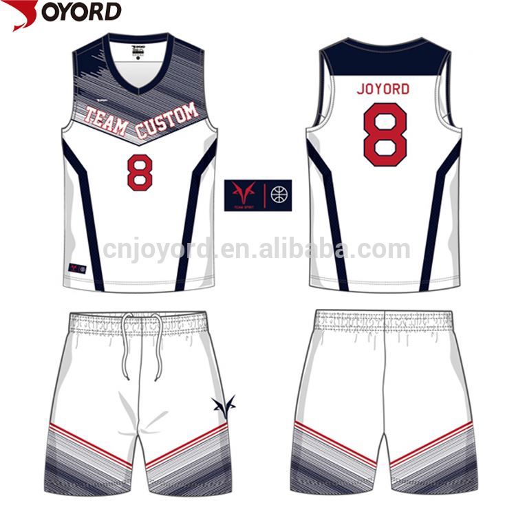 Custom Design Atmungsaktiv Schnell Trocken Muster Sublimation Basketball Trikots
