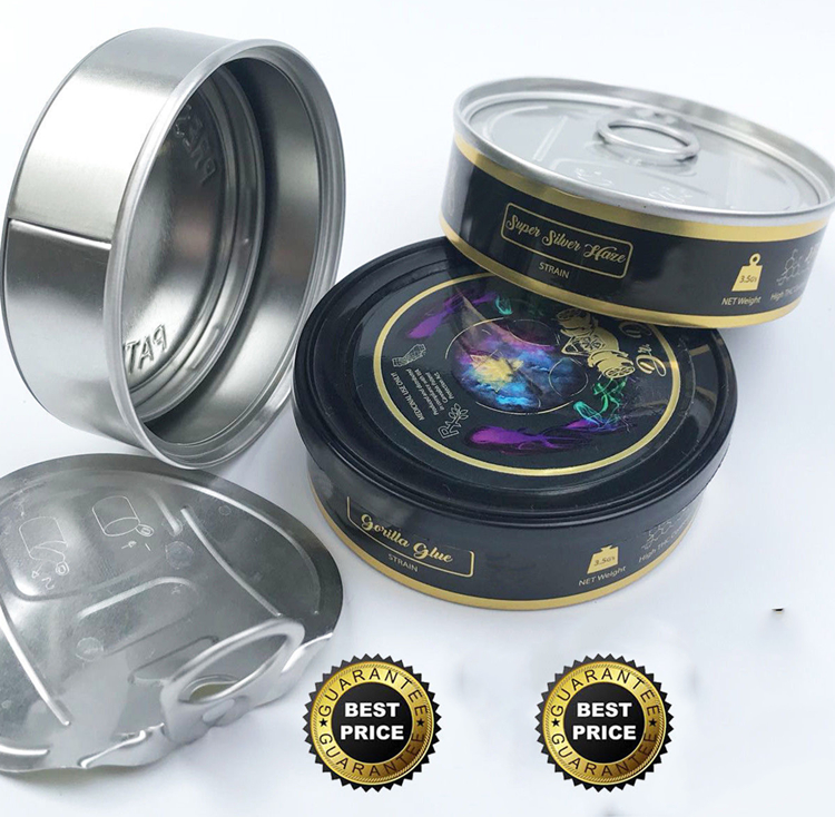 Self Seal Press It Tins And With Stickers Clear Or Black Lid - Buy Self  Seal Tins,4 Oz Self Seal Tins,Press It Tin Product on Alibaba com