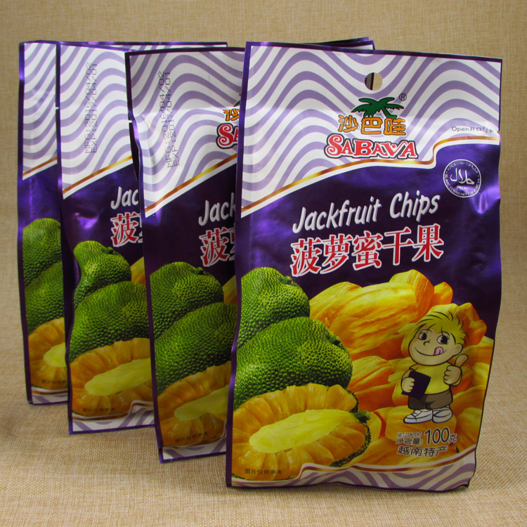 china manufactory custom jackfruit chips packing bag Stand up Pouch/100g jackfruit chips Packaging Bag with Zipper