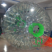HI 2m 0.8mm PVC giant inflatable ball inside person outdoor ball body bubble ball