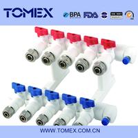 white PPR 5 way valve manifold valve set