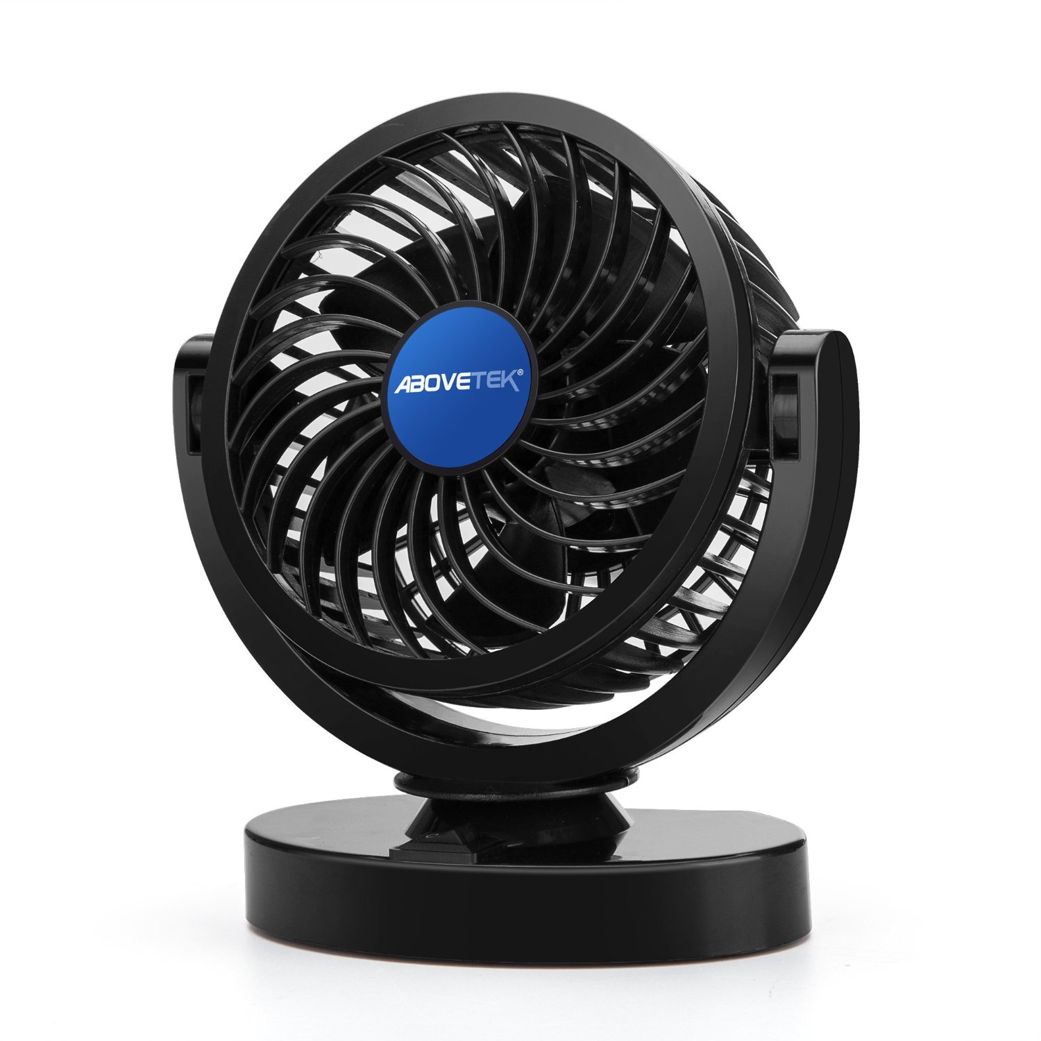 Quiet Strong Dashboard Cooling Fan for Sedan SUV RV Boat Auto Vehicles Odors Effectively Blow Out Hot Air Rotatable 2 Speed Dual Blade with 9FT Cord Smoke AboveTEK 12V DC Electric Car Fan