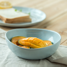 Light Blue Dinner Soup Bowl Ceramic moroccan bowls