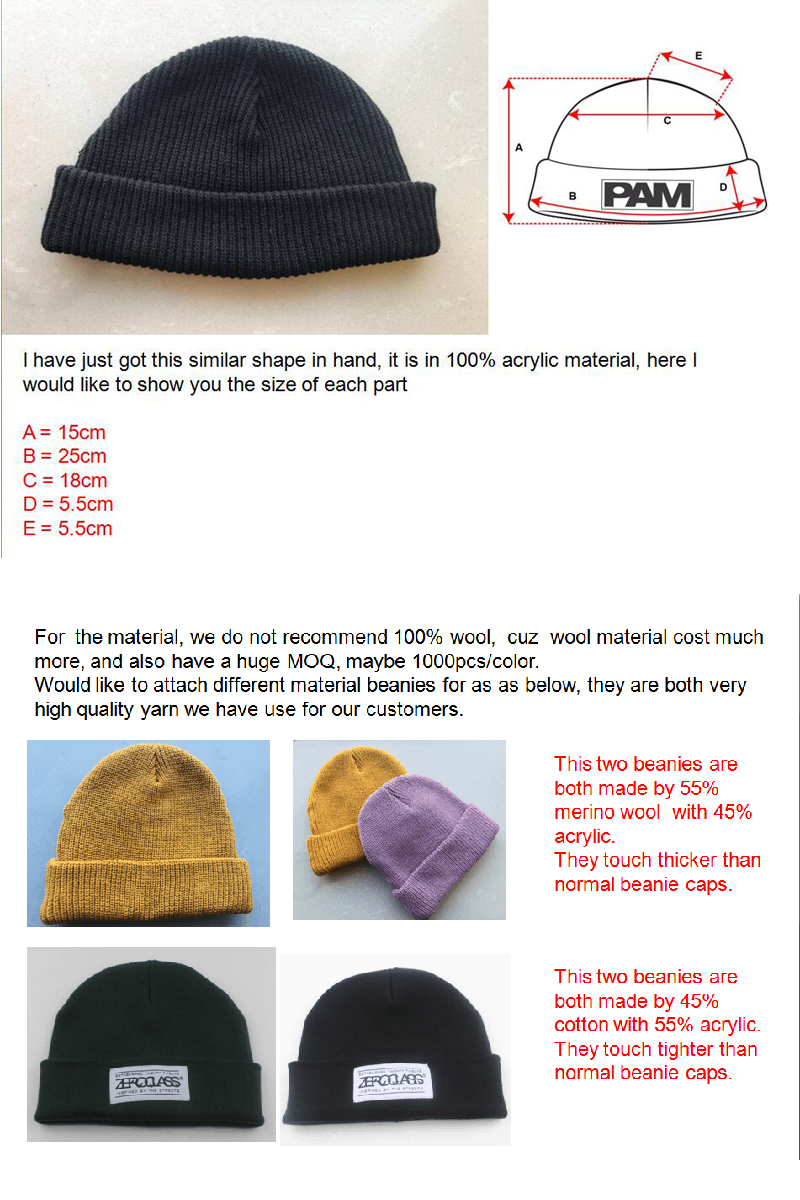 ea21dca64bf92 100% Acrylic Winter Warm Plain Blank Beanie Hat Custom Beanie - Buy ...