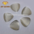 Triangle shape synthetic glass white milky gems decorative glass gems