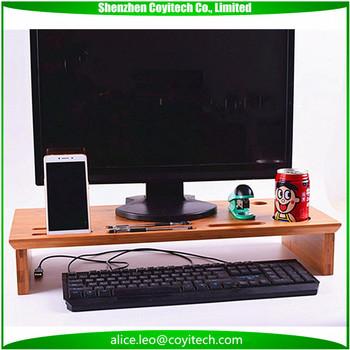 Echt Bambus Desktop PC Display Ständer Bildschirm Plattform Regal Riser  Halter Für Apple IMac