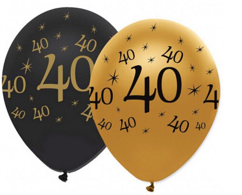 12inch 30 40 50 60 70 80 90 anniversary latex balloons wedding