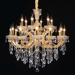 Arabic arm chandelier polished golden decorative k9 crystal wedding party ballroom decoration chandeliers